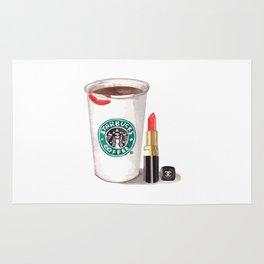 Starbucks ans lipstick Rug