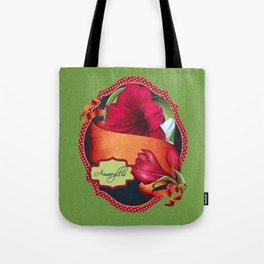 Tropical Amaryllis Tote Bag