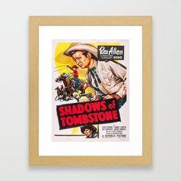 Vintage poster - Shadows of Tombstone Framed Art Print