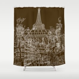 Paris! Shower Curtain