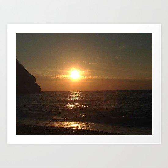 Italian Sunset 2 Art Print