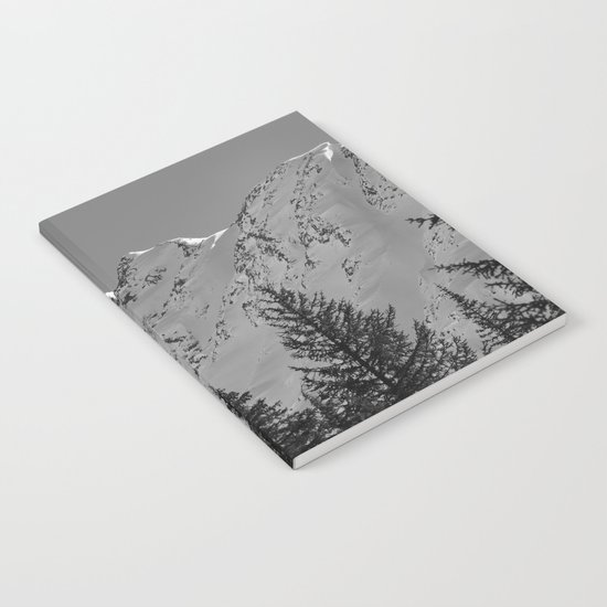 Gwin's Winter Vista - B & W Notebook