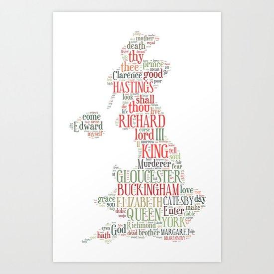 Shakespeare's Richard III  Art Print