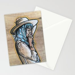 Wooden cowgirl Stationery Cards