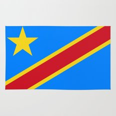 National flag of the Democratic Republic of the Congo, Authentic version (to scale and color) Rug