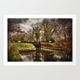 Sulhamstead Lock on the Kennet and Avon Art Print