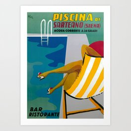 Piscina di Sarteano Travel Poster Art Print