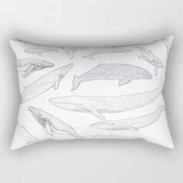 Whales of the world Rectangular Pillow