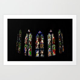 Stained Glass Windows, Beaune Cathedral Art Print