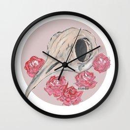Bird Skull WaterColor Wall Clock