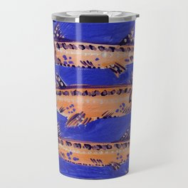 Barracuda on Blue Travel Mug