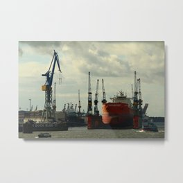Ship In Dry Dock Metal Print
