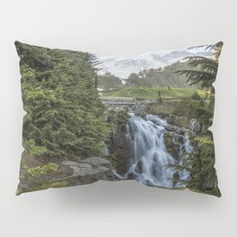 Mount Rainier and Myrtle Falls, Late Afternoon Pillow Sham
