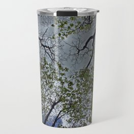 Tree canopy in the spring Travel Mug