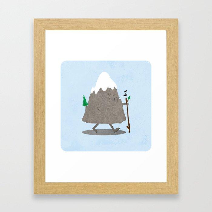 Lil' Hiker Framed Art Print