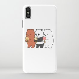 Baby Bears Eating Some Ice Cream iPhone Case