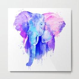 Elephant Watercolor, Animal Watercolor, Watercolor Art Metal Print