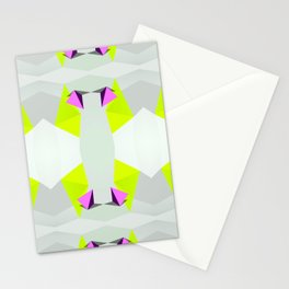 Polygon Neon Stationery Cards
