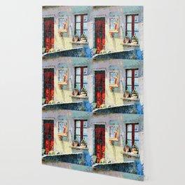 Catanzaro: door, saintly edicule and window Wallpaper