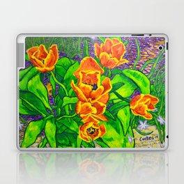 View of Tulips Laptop & iPad Skin
