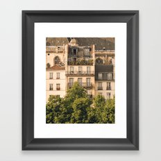 Sunny Paris Framed Art Print