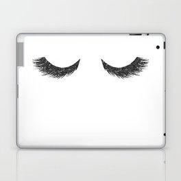 Lashes Black Glitter Mascara Laptop & iPad Skin