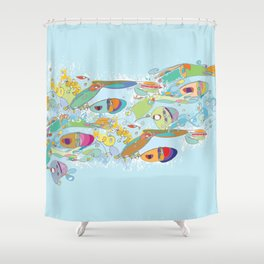 Open Water Madness 2 Shower Curtain