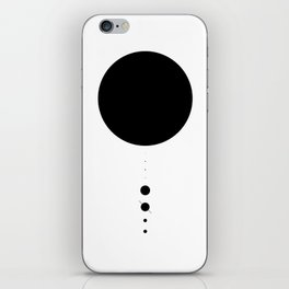 The Solar System (white) iPhone Skin