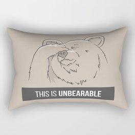 This Is Unbearable Rectangular Pillow
