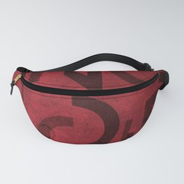 Pinot Noir Wine Typography Fanny Pack