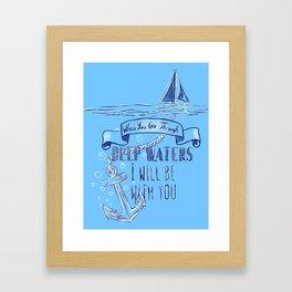 Deep Waters Framed Art Print