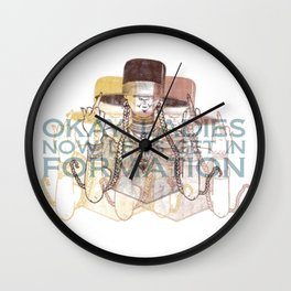 In Formation Wall Clock