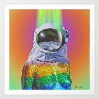 Spectrum Space Art Print
