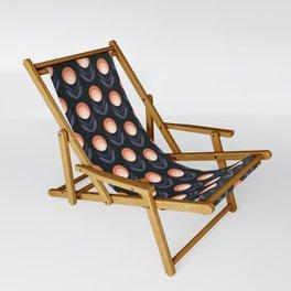 Mod Rose Pattern Sling Chair