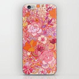Detailed summer floral pattern iPhone Skin