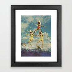 On Evil Beach Framed Art Print