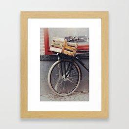 Bicycle, Wood Crate Framed Art Print