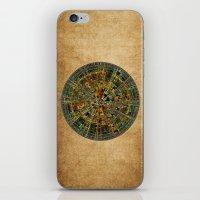 calendar iPhone & iPod Skins featuring Ancient Calendar by Klara Acel