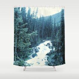 Mountan Stream Shower Curtain