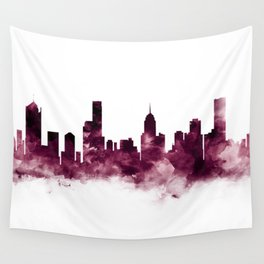 Melbourne Skyline Wall Tapestry