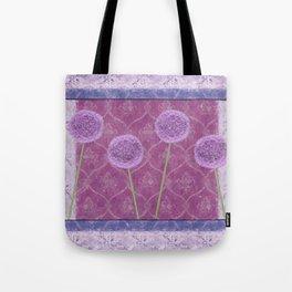 Vintage Allium Tote Bag