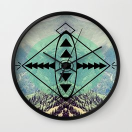 Mountians and Print Wall Clock