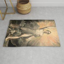 "William Blake ""Angel of the Revelation (Book of Revelation, chapter 10)"" Rug"