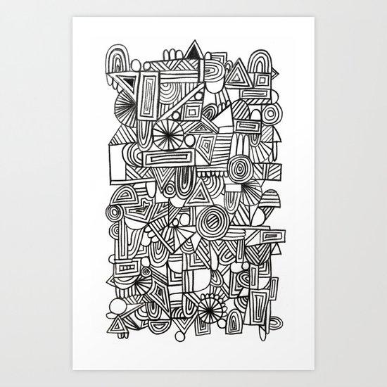 Schritttempo Art Print