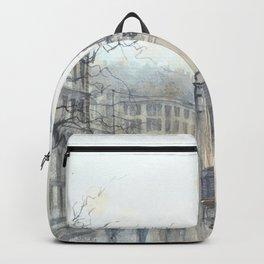 Lviv cityscape Backpack