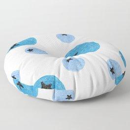 pattern blueberry Floor Pillow