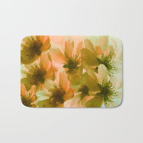 Orange Blossom Abstract Bath Mat