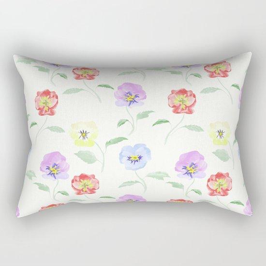 Colored Viola. Watercolor . Rectangular Pillow