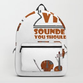 Baroque It Violin Player Folk Music Classical Jazz Backpack