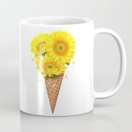 Ice cream with sunflowers Coffee Mug